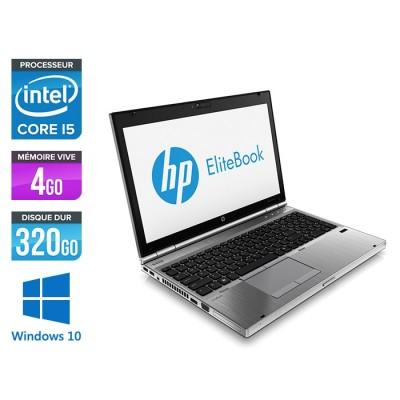 Pc portable reconditionné - HP EliteBook 8570P - i5 - 4Go - 320Go HDD - Windows 10