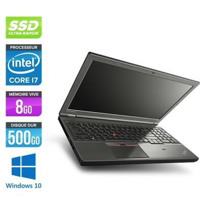 Station de travail reconditionné - Lenovo ThinkPad W541 - i7 - 8Go - 500Go SSD - Nvidia K2100M - Windows 10