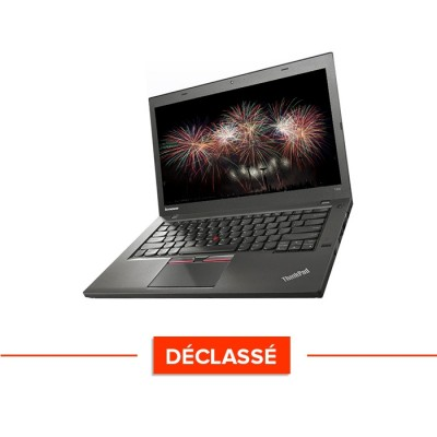 Ordinateur portable reconditionné - Lenovo ThinkPad T450S - i5 5300U - 8Go - SSD 240Go - Windows 10 - Déclassé