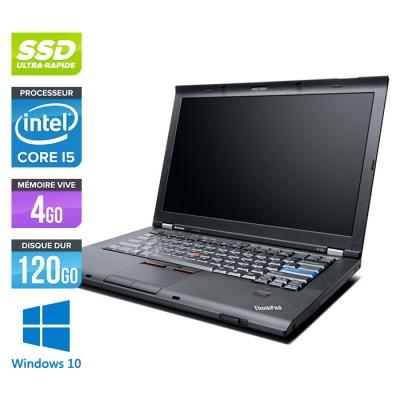 Lenovo ThinkPad T410 - Core i5 - 4Go - 120Go SSD - Windows 10