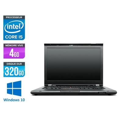 Pc portable reconditionné - Lenovo ThinkPad T430S - i5 - 4Go - 320Go HDD - Windows 10 Pro