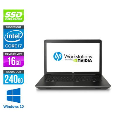 HP Zbook 17 G3 - i7 - 16Go - SSD 240Go - HDD 1To - Nvidia M2000M - Windows 10