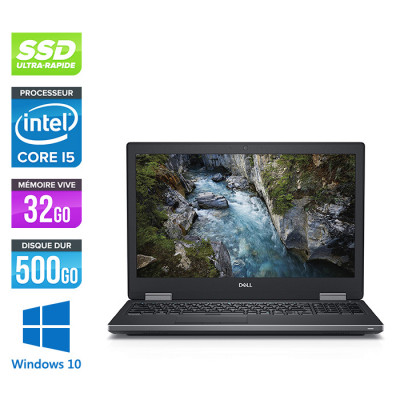Dell Precision 7710 - i7 - 32Go DDR4 - 500GoSSD - NVIDIA Quadro M4000M - Windows 10