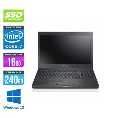 Workstation Dell Precision M4600 reconditionné - i7 - 16Go - 240Go SSD - NVIDIA Quadro K2000M - Windows 10