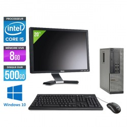 Dell Optiplex 7010 SFF - Windows 10 + Ecran 20''