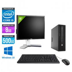"HP EliteDesk 800 G2 SFF - Windows 10 + Écran 19"""