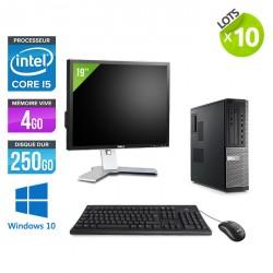 Lot de 10 Dell Optiplex 7010 Desktop - Windows 10 + Ecrans 19''