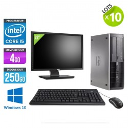 Lot de 10 HP Elite 8200 SFF - Windows 10 + Ecrans 22""