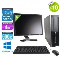 "Lot de 10 HP Elite 8200 SFF - Windows 10 + Ecrans 20"""