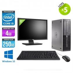 "Lot de 5 HP Elite 8200 SFF - Windows 10 + Ecrans 22"""