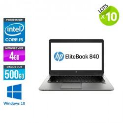 Lot de 10 HP EliteBook 840 G1 - Windows 10