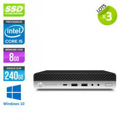Lot de 3 HP EliteDesk 800 G3 DM - Windows 10