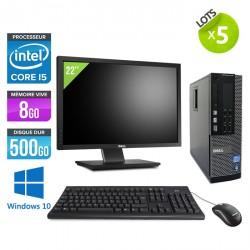 Lot de 5 Dell Optiplex 790 SFF - Windows 10 + Ecran 22''