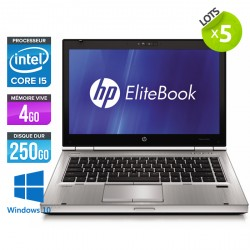 Lot de 5 HP EliteBook 8470P - Windows 10
