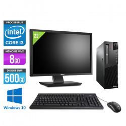 "Lenovo ThinkCentre M82 SFF - Windows 10 + Écran 22"""