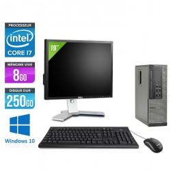 Dell Optiplex 7010 SFF - Windows 10 - Ecran 19''
