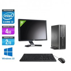HP 6200 Pro SFF + Ecran 20'' - Windows 10