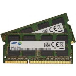 Lot de 2 barrettes RAM Samsung - SO-DIMM - 1 Go - DDR3 - PC3-8500S